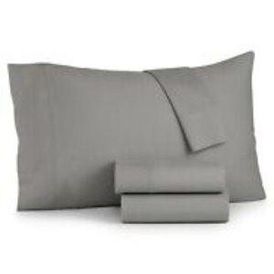 Sunham Bari 4-Pc. Solid Sheet Set CA King, Gray